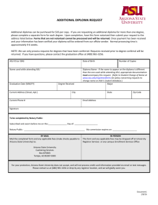 Additional Diploma Request - ASU Students Site