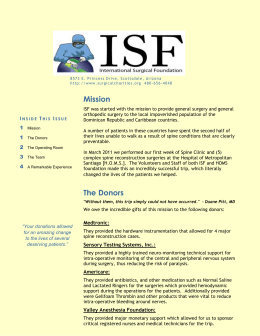 March 2011 Humanitarian Newsletter