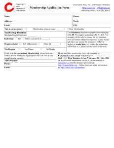 Membership Sign-up Form in Word