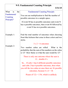 9-5: Fundamental Counting Principle 3/31/15