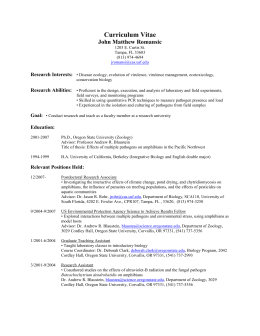 Curriculum Vitae - University of South Florida