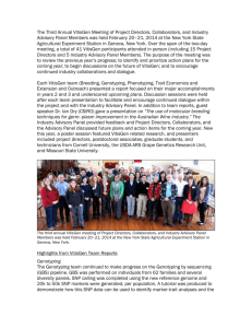 Third Annual VitisGen Specialty Crop Research Initiative Project