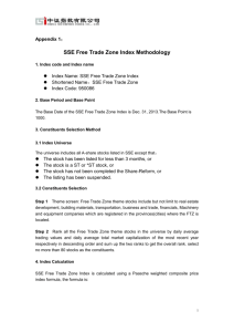 Appendix 1:SSE Free Trade Zone Index Methodology
