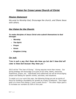 Vision for Cross Lanes Church of Christ