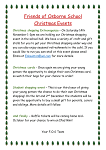 Friends of Osborne School Christmas Events