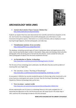 archaeology web links