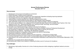 Education - Service Annual Performance Review