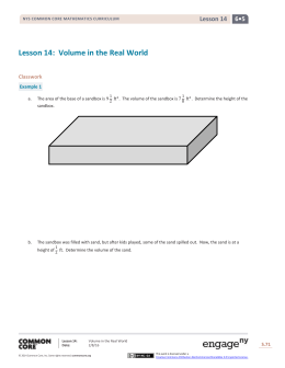 Lesson 14: Volume in the Real World
