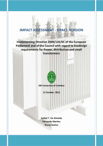 impact assessment - draft version - European Council for an Energy