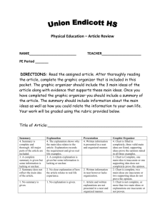 Article Review Sheet