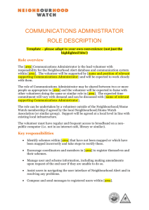 the role description template here.