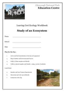 Leaving Cert Workbook - Glenveagh National Park