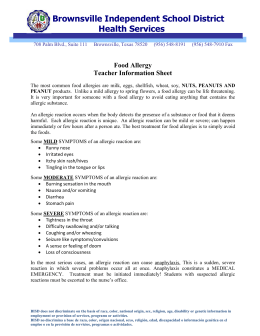 Food Allergy - Brownsville Independent School District