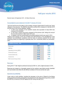 Press Release - Half-year results 2015