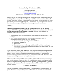 Structure Lab Syllabus Sp11 - California State University