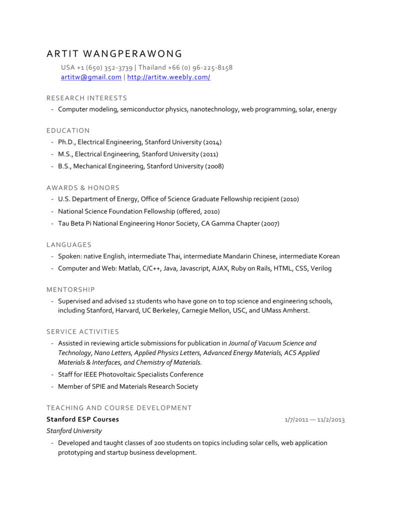 Chronological resume (Minimalist design)