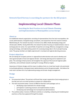 Implementing Local Climate Plans