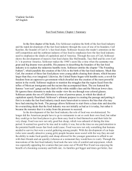 fast food nation 2 essay Need help with chapter 2: your trusted friends in eric schlosser's fast food nation check out our revolutionary side-by-side summary and analysis fast food nation chapter 2: your trusted friends summary & analysis from litcharts | the creators of sparknotes.