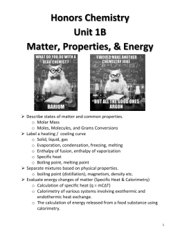 Unit 1B Note Packet - Solon City Schools