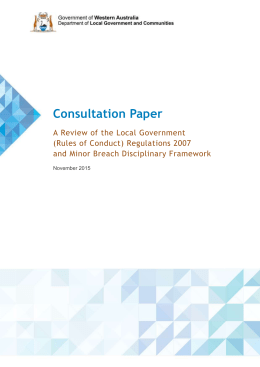 Consultation Paper - Department of Local Government and
