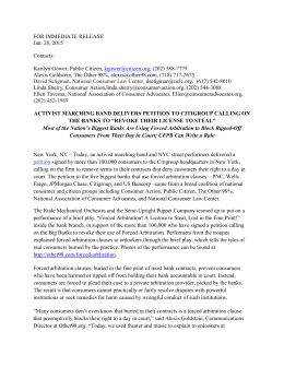 press release - National Association of Consumer Advocates