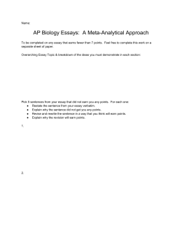 AP Biology Essay Meta-Analysis