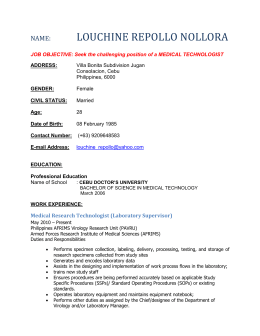 Click Here to Full CV of Louchine Repollo