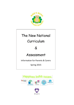 The new national curriculum - Bird`s Bush Primary School