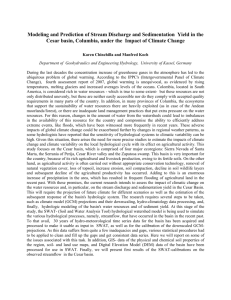 Analysis and prediction of stream discharge and sedimentation yield