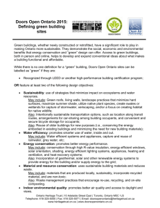 Defining green building sites