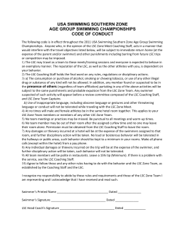 Southern Zones Code of Conduct form