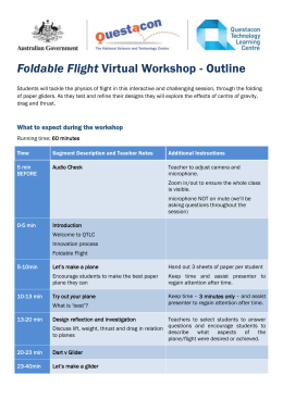 Foldable Flight Virtual Excursion Information