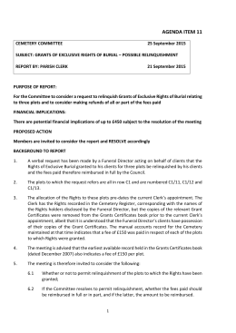 agenda item 11 - Chapel St. Leonards Parish Council