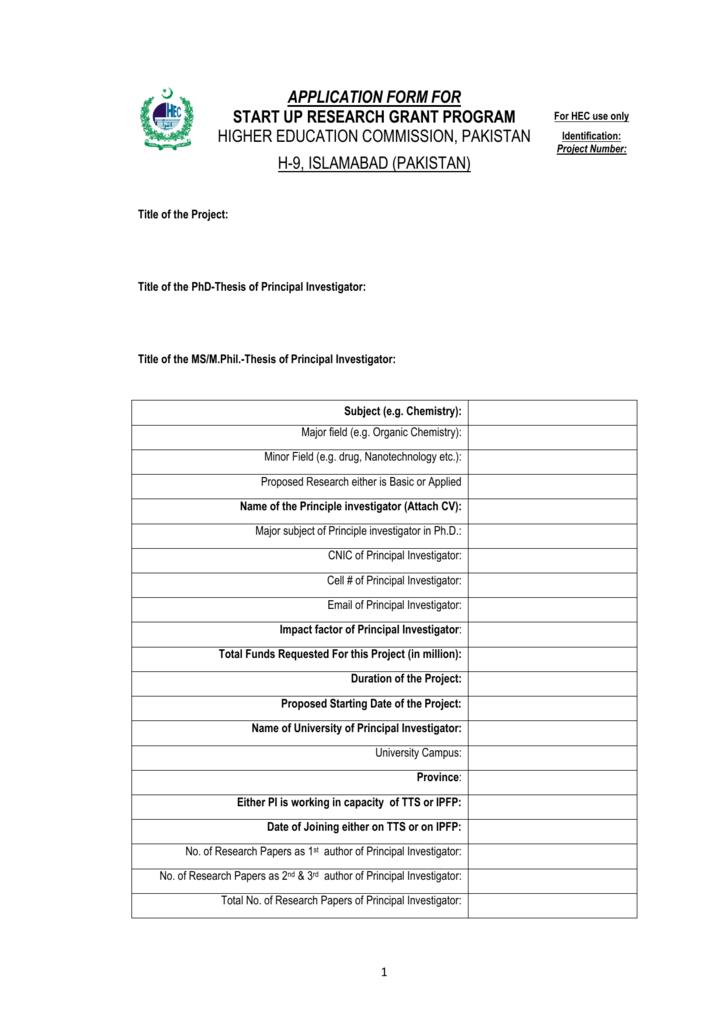 hec mphil thesis format