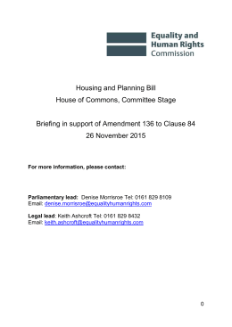 Housing and Planning Bill House of Commons Committee Stage