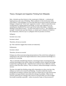 Theory: Divergent and Inegrative Thinking from Wikipedia Note