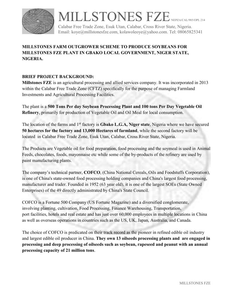 Millstones Farm Project Partner Brief 10th april 2015
