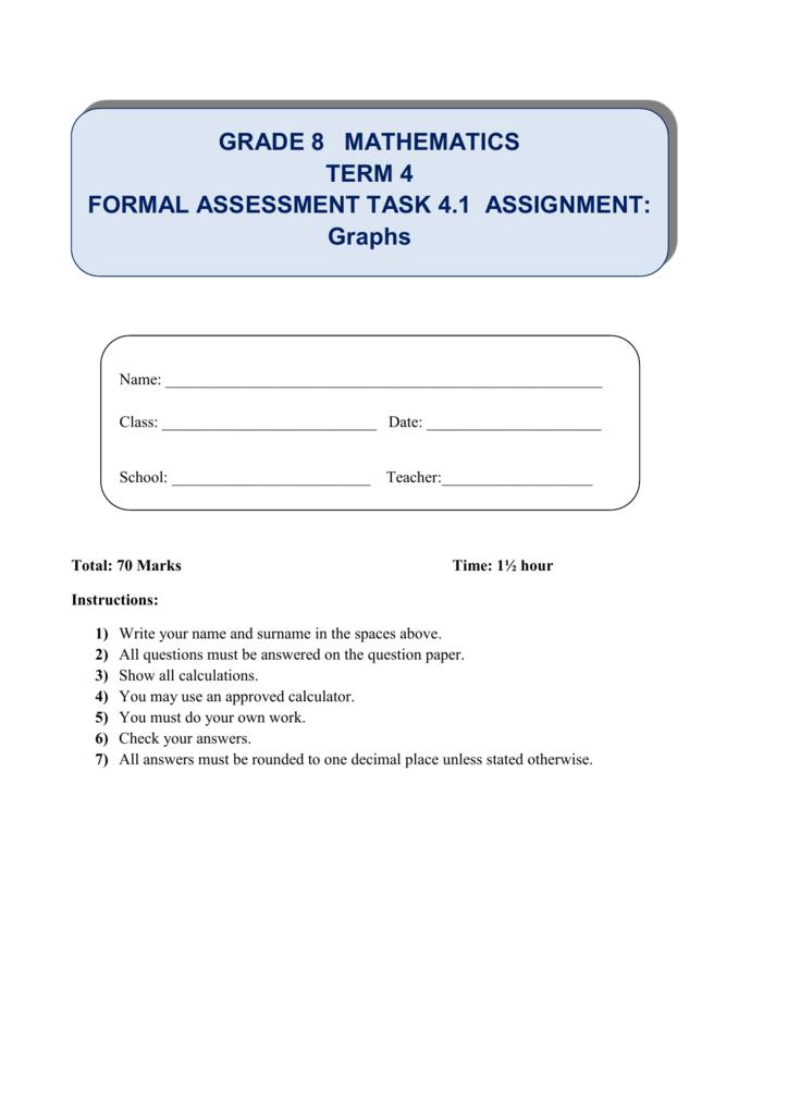 Grade-8-Mathematics-FAT-4 1-ASSIGNMENT-Graphs-Term