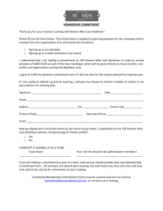 Membership Commitment Form - 100 Women Who Care Markham
