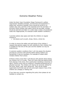 Extreme Weather Policy