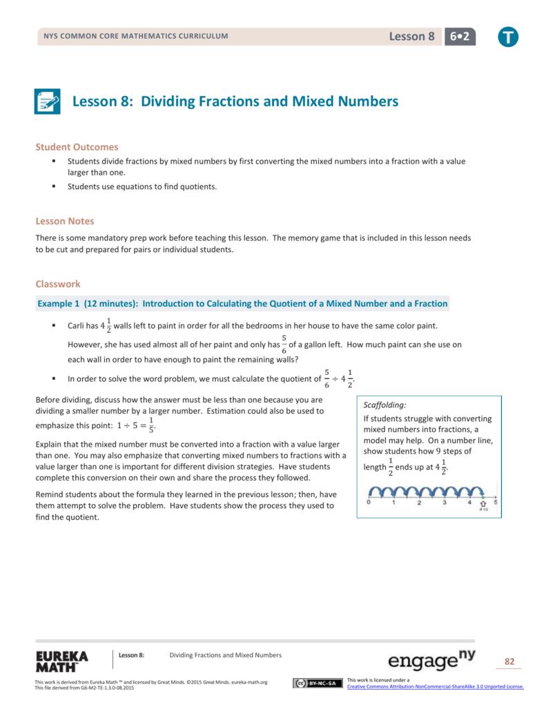 Grade 6 Mathematics Module 2, Topic A, Lesson 8