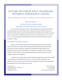 By applying to the Autism Spectrum Post