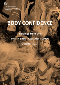 Body confidence: findings from the British Social Attitudes