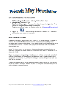 Friends June Newsletter - FCCE – Frampton Cotterell C of E Primary