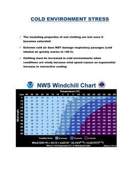 Cold Stress Guidelines
