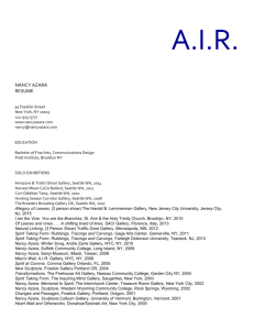 resume - A.I.R. Gallery