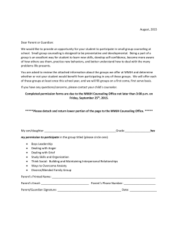 Group Permission Slip