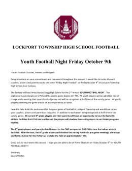 LTHS Youth Football Night Oct 9th