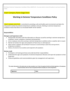 8. Working in Extreme Temperatures Policy Sample 1