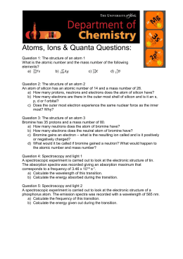 Atoms, ions and quanta questions (MS Word , 148kb)